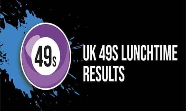 UK49s Lunchtime Results: 15 January 2021