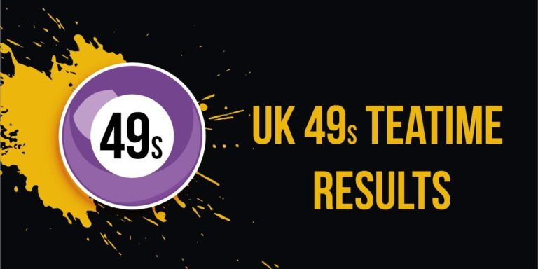 UK49s Teatime Results: 8 January 2021